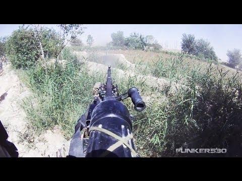 M240B Gunner Suppresses Enemy During Ambush
