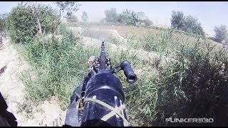 M240B Gunner Suppresses Enemy During Ambush