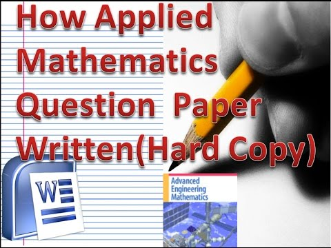 How to make Mathematics Question Paper for Engineering|Board Exam using Ms-word