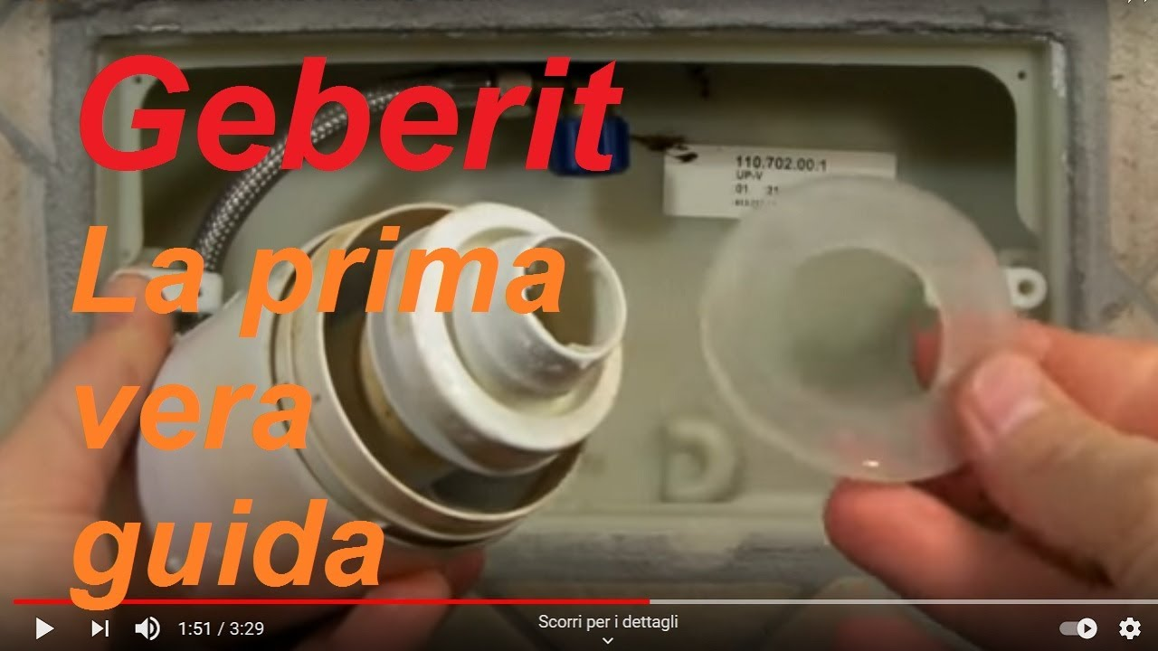 Come smontare la cassetta di scarico geberit viyoutube - Cassetta bagno geberit ...