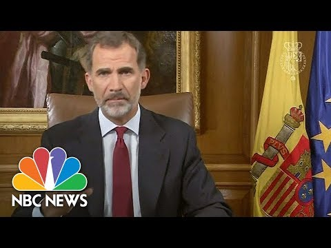 King Of Spain Accuses 'Irresponsible' Catalan Leaders Of Disloyalty | NBC News