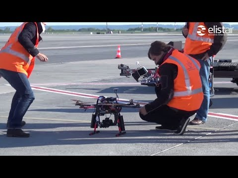 Tethered Drone Flies at Paris CDG Airport