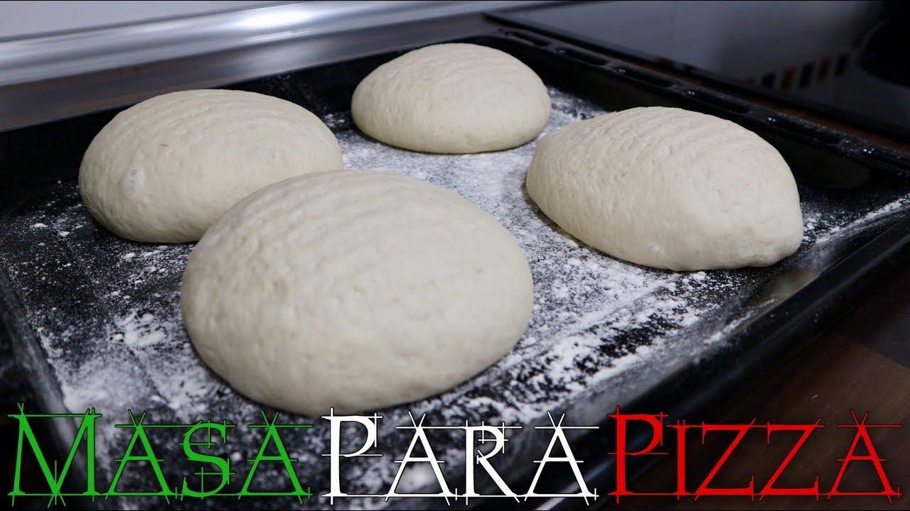 Masa Para Pizza Italiana Fina Y Crujiente Youtube