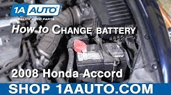 How to Replace battery 08-12 Honda Accord