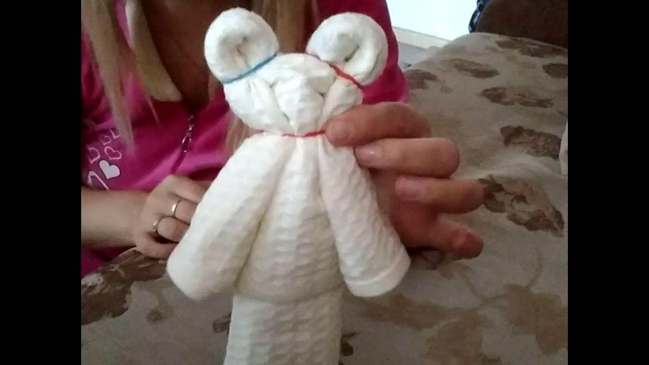 Медведь из полотенец своими руками