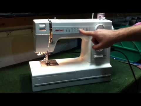 Janome HD40 Heavy Duty Sewing Machine Stretch Stitches YouTube Enchanting Janome Hd1000 Black Edition Heavy Duty Commercial Grade Sewing Machine