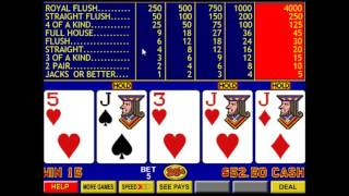 Video Poker Part 1 - Jacks or Better