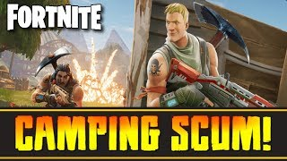 "Fortnite Battle Royale (PC) - ""Stop Camping, You Scumbags!"" (Noob Rage)"