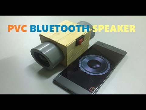 DIY A Portable Bluetooth Speaker Using PVC Pipe And Wood