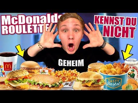 GEHEIME McDonald's Produkte die niemand kennt! - McDonalds Roulette