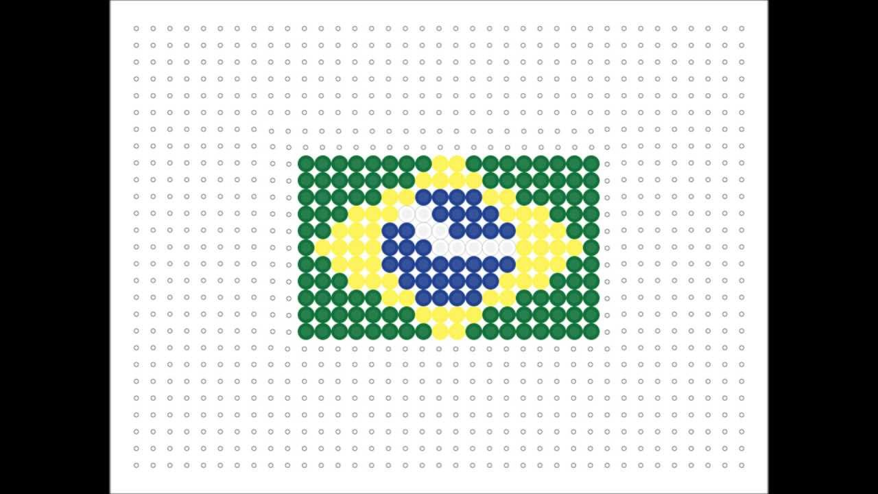 Brazil Flag Hama Beads