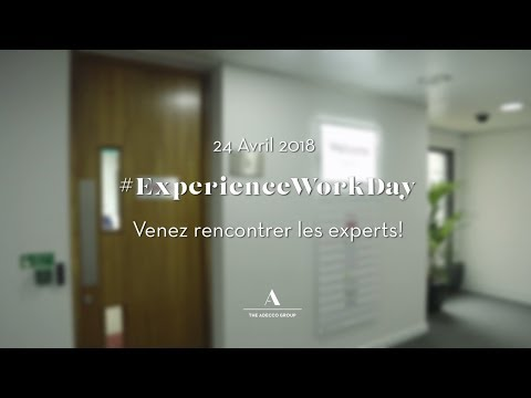 Venez rencontrer les experts - Experience Work Day 2018