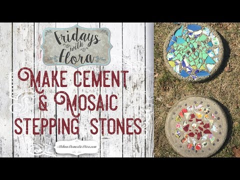 make-diy-concrete-mosaic-stepping-stones-for-the-garden,-ep-37-fridays-w/flora