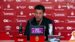 Rueda de prensa de Javier Olaizola tras el RCD Mallorca vs Rayo Vallecano (2-1)