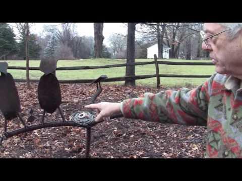 BULLYING OWLS   FABRICATED SCRAP METAL ART BY LON C PELTON