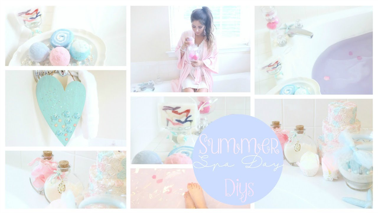Summer Spa day / Bath DIYs & Beach Decor - YouTube