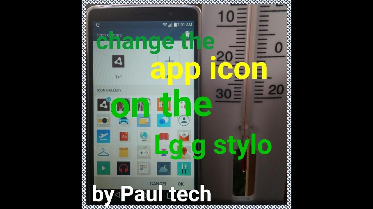 Lg g stylo change app icon image