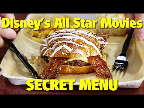 SECRET MENU at Disneys All Star Movies Resort  Walt Disney World