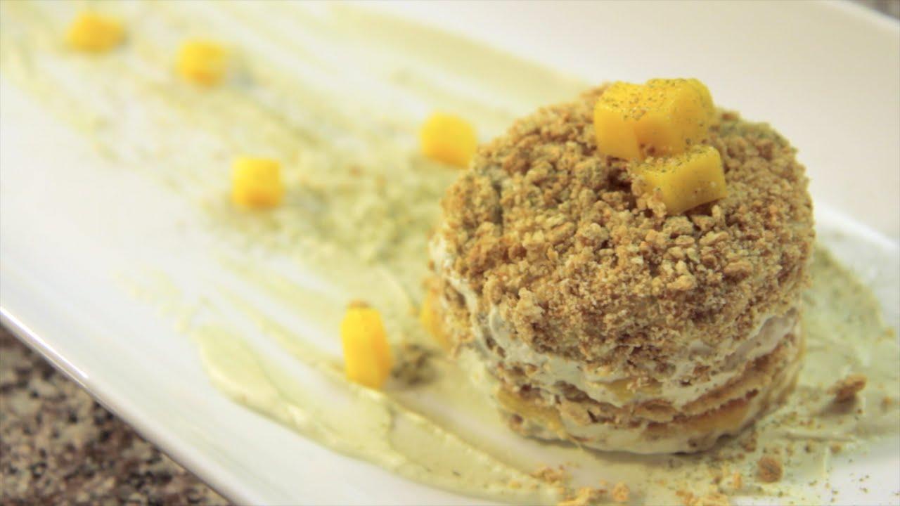 Matcha Green Tea Mango Icebox Cake   Rule of Yum - YouTube