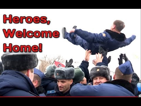 Download Youtube: RAW: Russian Pilots Arriving Home From Syria Given Hero's welcome