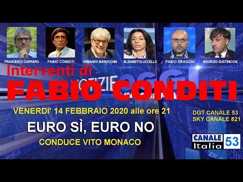 Fabio Conditi - Euro sì, Euro no - 14 febbraio 2020 - Canale Italia