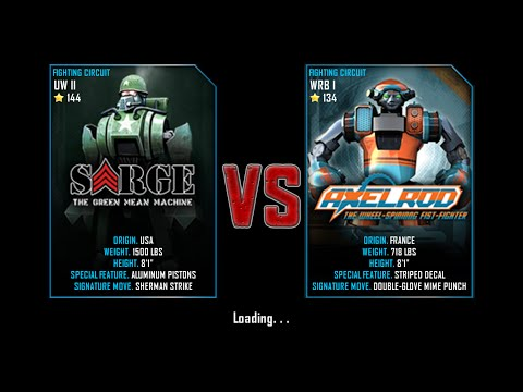 Real Steel WRB Free Sparring Sarge VS Axelrod NEW ROBOT UPDATE