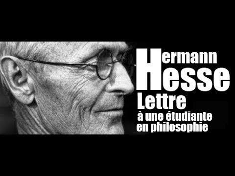 Hermann Hesse ★ Lettre à une étudiante en philosophie / 1930