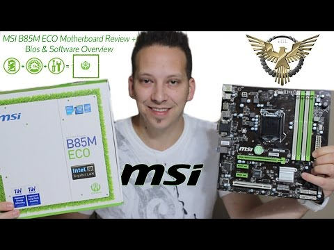 MSI B85M ECO Motherboard Review + BIOS & Software Overview