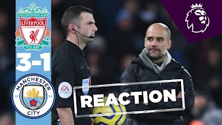 PEP REACTS TO LIVERPOOL DEFEAT | LIVERPOOL 3-1 MAN CITY