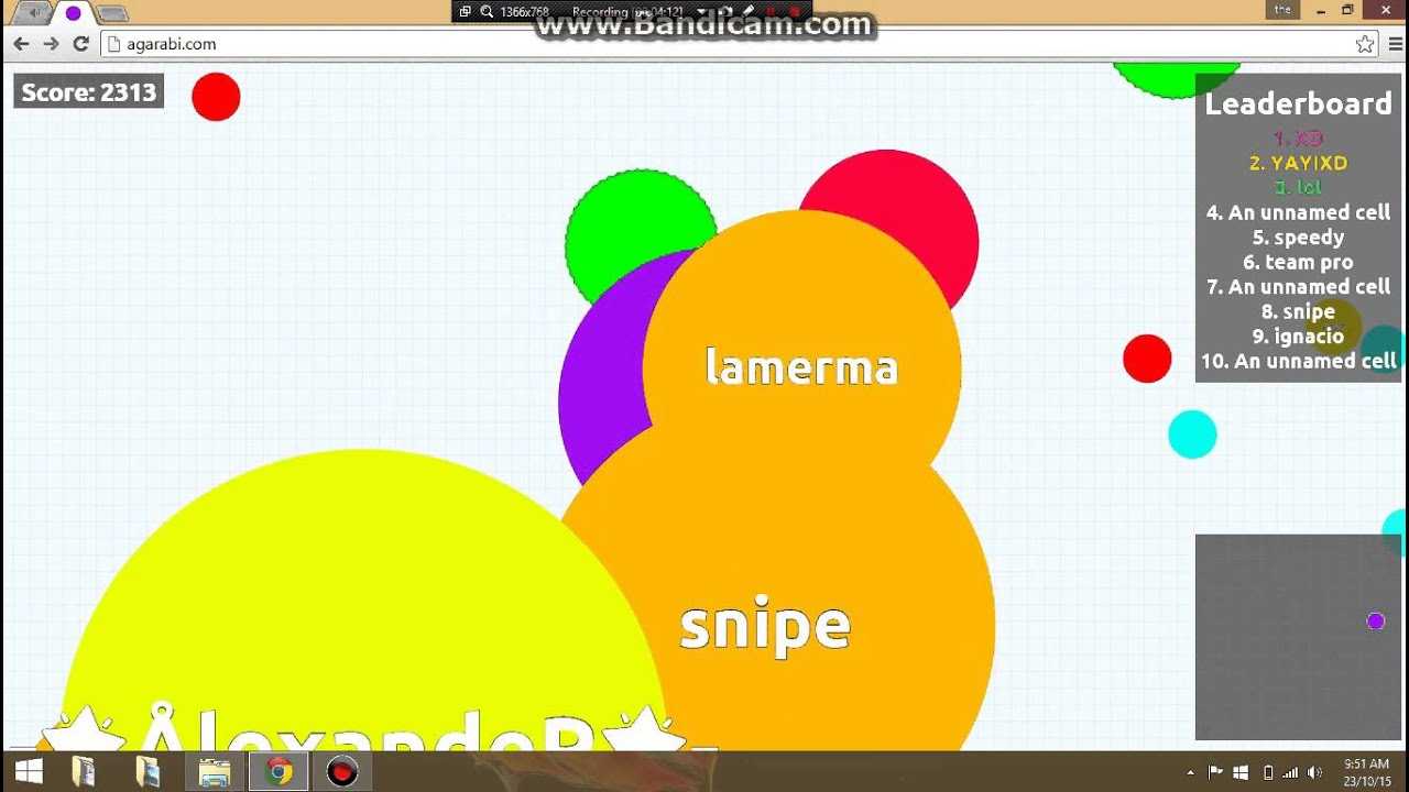 How to get big in agar.io fast - YouTube
