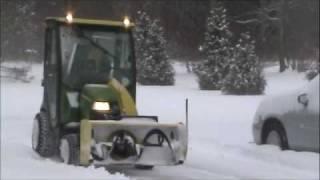 John Deere X749 Tractor with Hard Cab & Snowblower