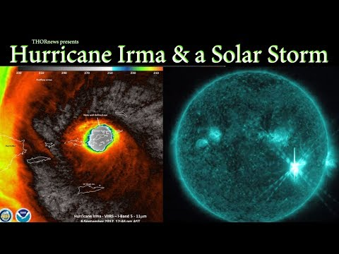 Hurricane Irma approaches the USA & a Solar Storm approaches Earth