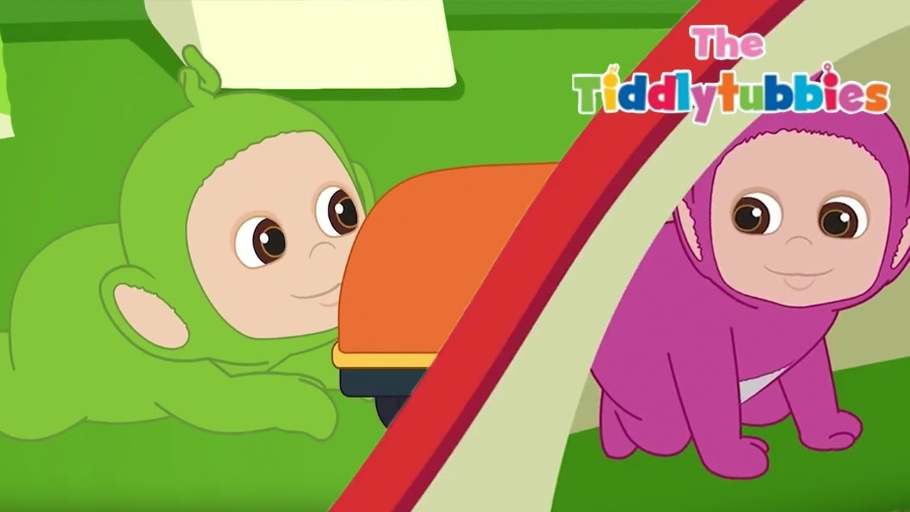 Teletubbies ☆ NEW Tiddlytubbies 2D Series! ☆ Episode 9  The Race ☆ Cartoons  for 1a68ef3fb5fab