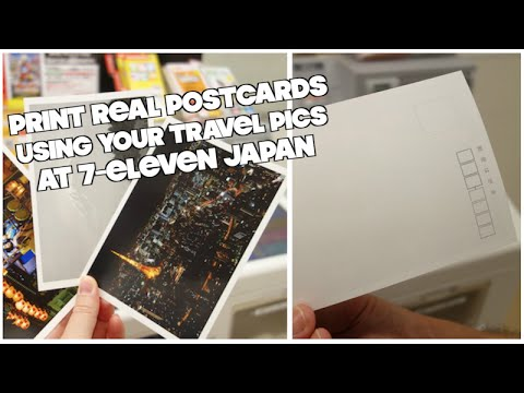 You Can Print Your Own Postcards at 7-Eleven Japan! - YouTube