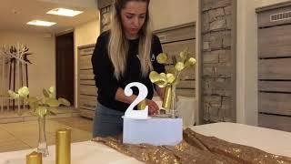 Свадьба в пудровом и золотом цвете - Декор свадеб в Киеве wedart.com.ua
