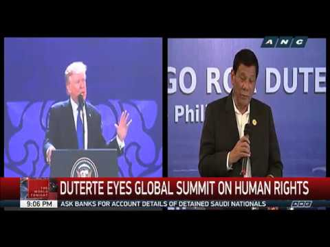 Duterte eyes global summit on human rights