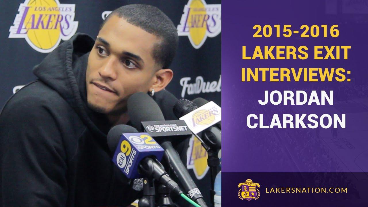 1e1bc525756 Jordan Clarkson Lakers Exit Interview: 'Confident' He'll Remain A Laker
