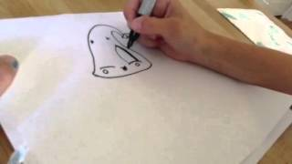 Hershey Kiss- how to draw one