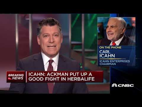 Carl Icahn on Bill Ackman Pulling out of His Position in Herbalife
