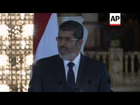 Morsi hints at possible ceasefire, but says no guarantees