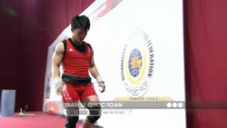 TRAN Le Quoc Toan 1j 153 kg cat. 56 World Weightlifting Championship 2013