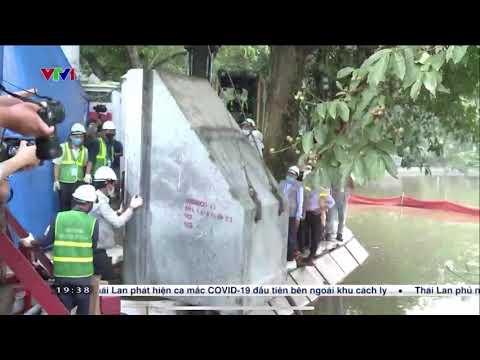 Hà Nội dùng Công nghệ bê tông cốt sợi kè Hồ Gươm