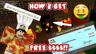 ROBLOX | Work at a Pizza Place: How To Get Free Money Fast!1!!1!