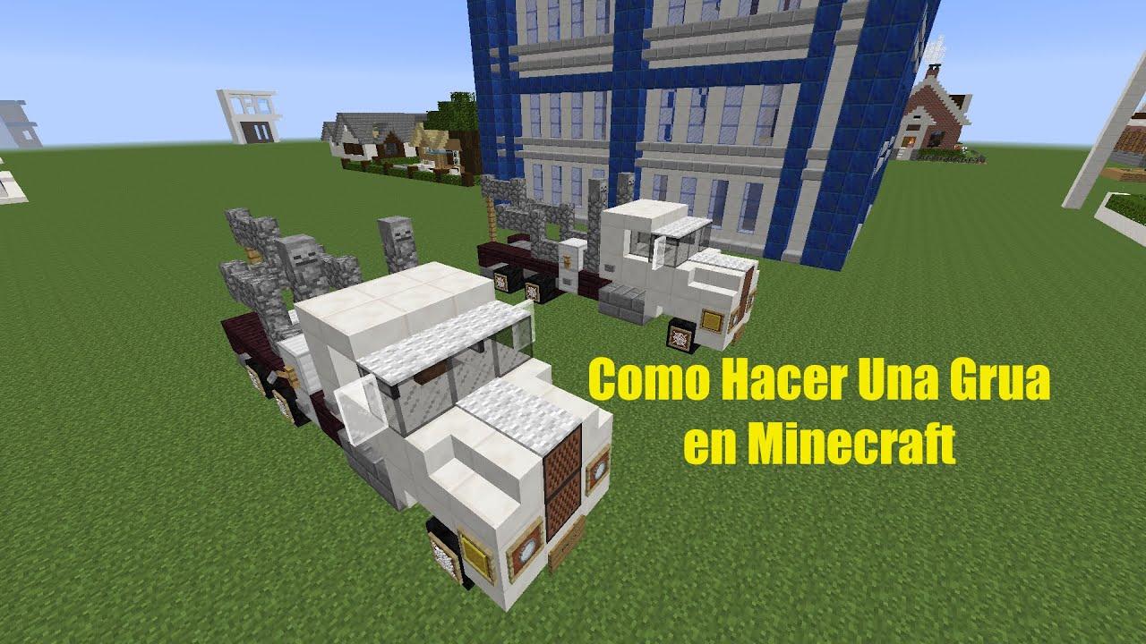 Como hacer una grua en minecraft youtube for Como hacer muebles en minecraft