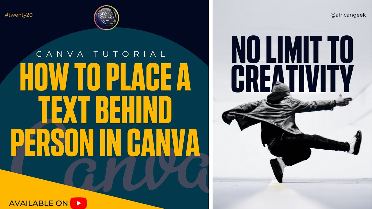 Canva tutorial for beginners - How to place text behind person in Canva