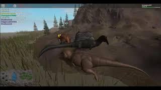 roblox Ära des Terrors t rex vs spinossauro parte 2