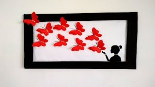 Butterfly Wall Decoration Ideas|| How To Decorate Your Room Easily|| Easy Wall Decoration Ideas