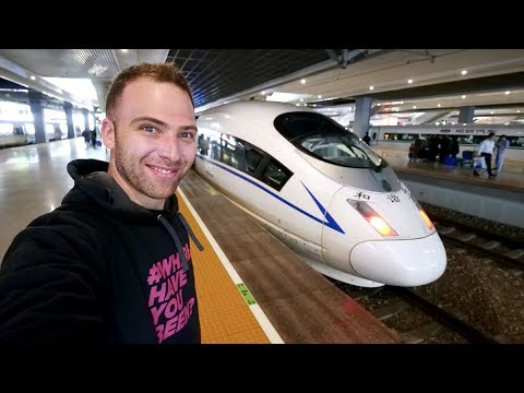 Chinese BULLET TRAIN Business Class REVIEW + Chinese Spicy Noodles | Shanghai to Hangzhou