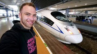 Gambar cover Chinese BULLET TRAIN Business Class REVIEW + Chinese Spicy Noodles | Shanghai to Hangzhou