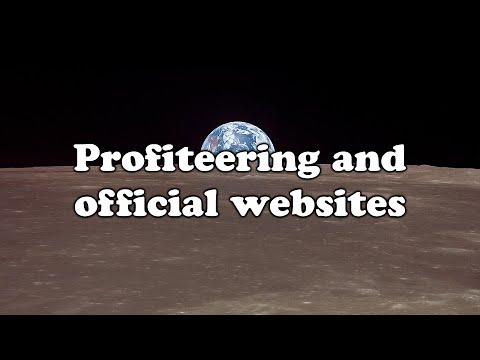 Anonymous - Profiteering and official websites